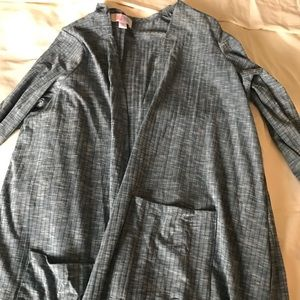 Lularoe Sarah heathered blue size M